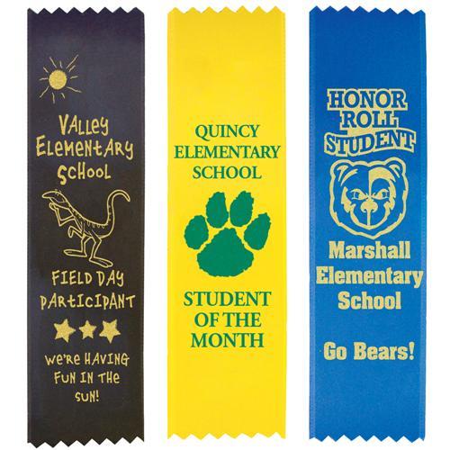 Regular-Flat Custom Ribbons - Jones School Supply