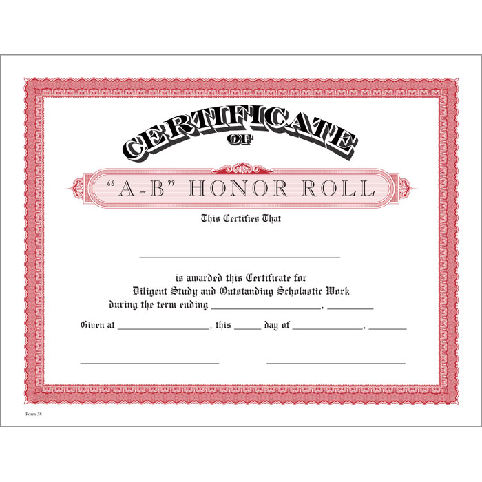 a b honor roll certificate template a b honor roll red certificate jones school supply