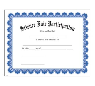 Science fair participation blue uw certificate jones school supply enlarge yadclub Choice Image