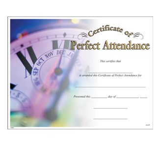 Perfect attendance certificate jones school supply yelopaper Image collections