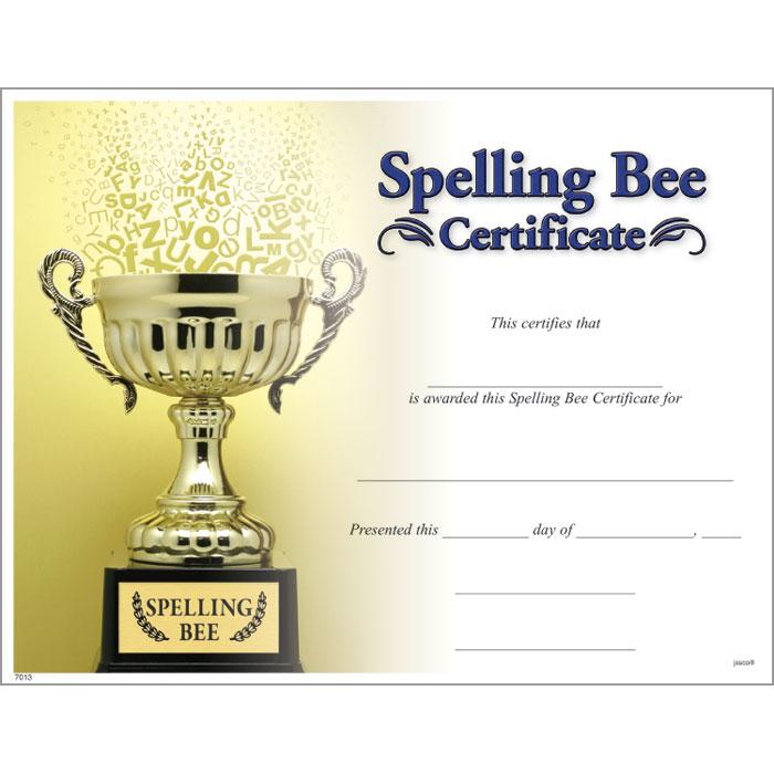 Spelling Bee Certificates Printable | Car Interior Design