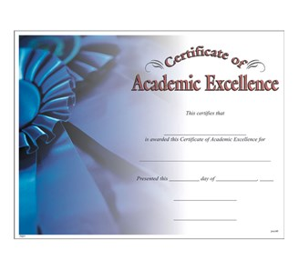 Academic excellence certificate jones school supply enlarge yadclub Image collections