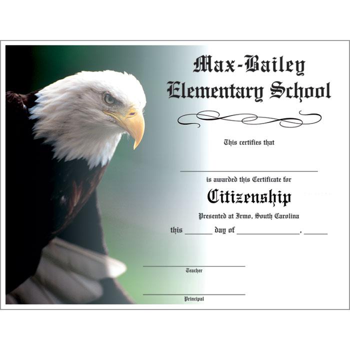 eagle custom certificate
