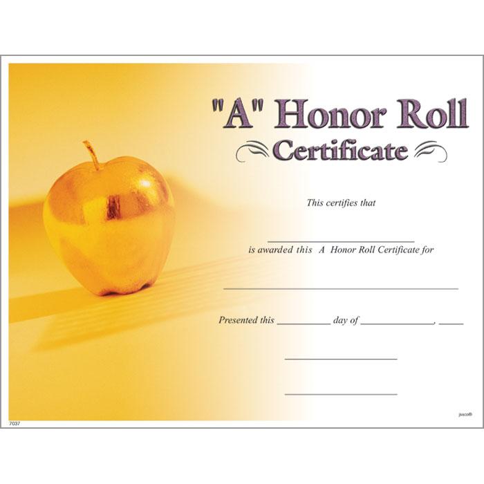 graphic regarding Free Printable Honor Roll Certificates referred to as A Honor Roll Certification - Jones College or university Delivery