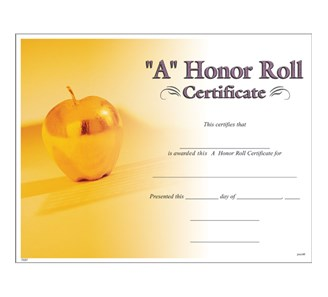 A honor roll certificate jones school supply yelopaper Choice Image