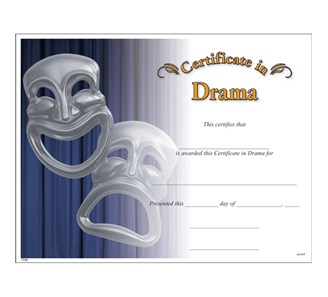 Drama certificate jones school supply enlarge yelopaper Images