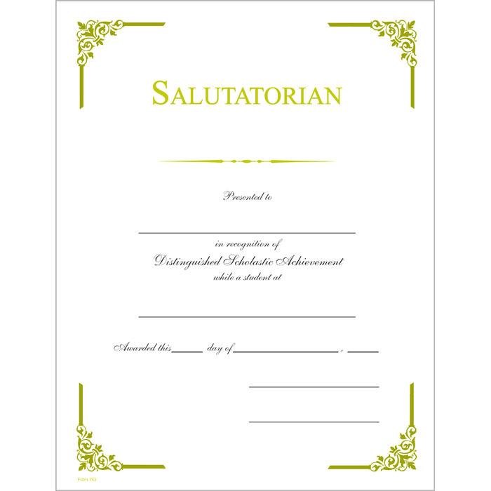 Salutatorian 700 certificate jones school supply salutatorian 700 certificate yadclub Image collections