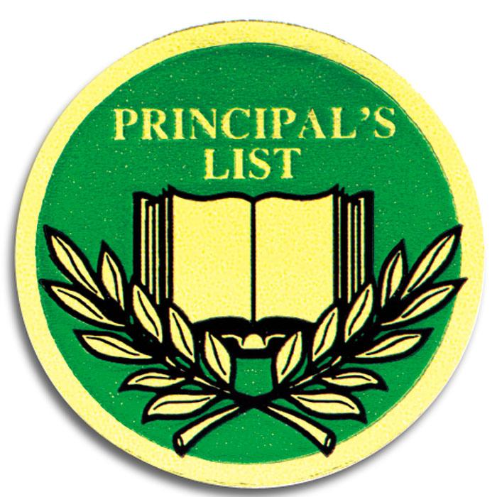 Principal39s list seal jones school supply for Principal s list award