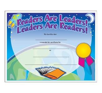 Readers are leaders certificate jones school supply enlarge yadclub Choice Image