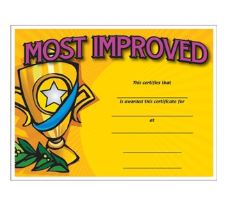Most improved colorful certificate jones school supply enlarge yadclub Gallery