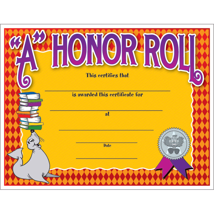 It is a graphic of Remarkable Free Printable Honor Roll Certificates
