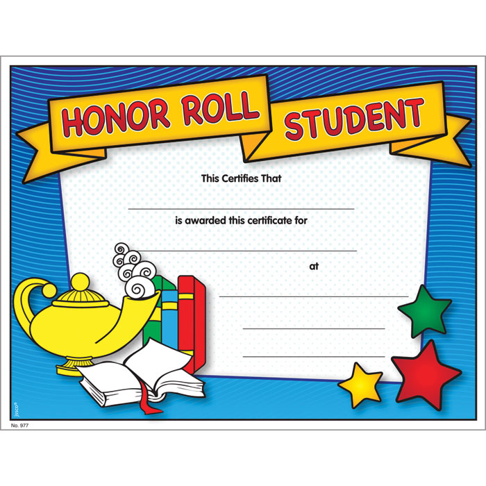 It is a graphic of Gorgeous Free Printable Honor Roll Certificates