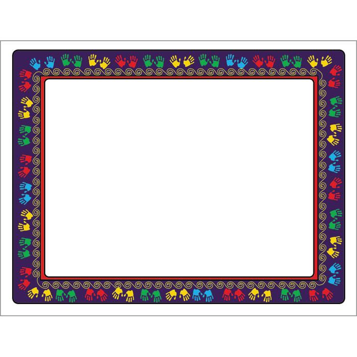 Handprint Borders | New Calendar Template Site