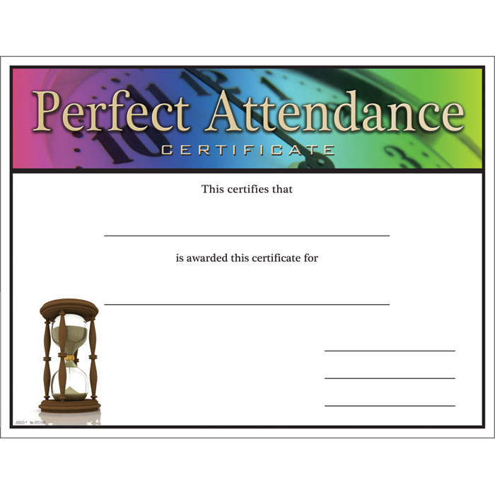 Perfect Attendance Certificate Template Simple Rental Agreement Form