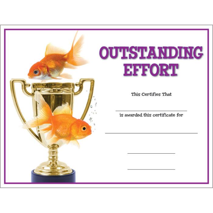 Outstanding effort critter kudos certificate jones school supply enlarge yelopaper Image collections