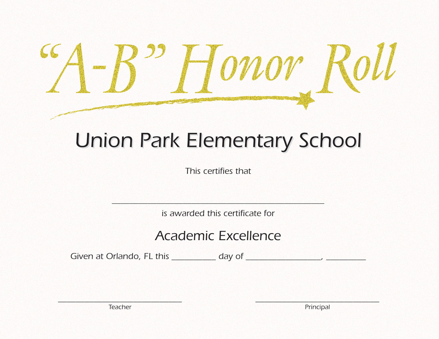 Ab honor roll custom certificate jones school supply for A b honor roll certificate template