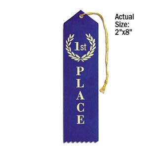 The 1st place ribbon looked just like this.