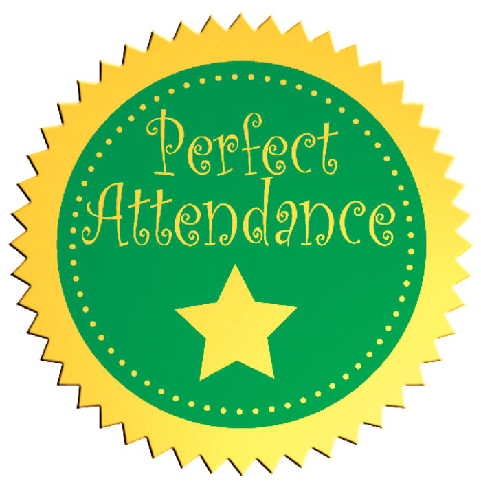 Perfect Attendance Seal - Jones School Supply