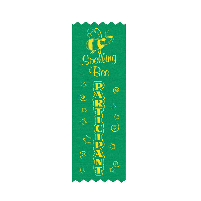 Spelling bee participant ribbon jones school supply for Spelling bee invitation template